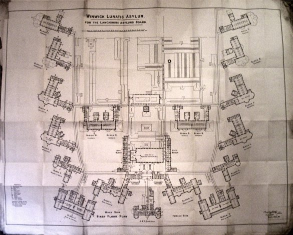 First floor plan of Winwick from the 1895 architectural drawings (courtesy of Nigel Roberts).